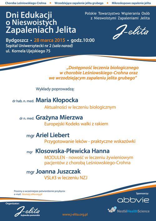 Plakat - Dni Edukacji 2015 -Bydgoszcz