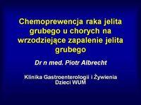 Chemoprewencja raka jelita grubego uchorych nawrzodziejące zapalenie jelita grubego