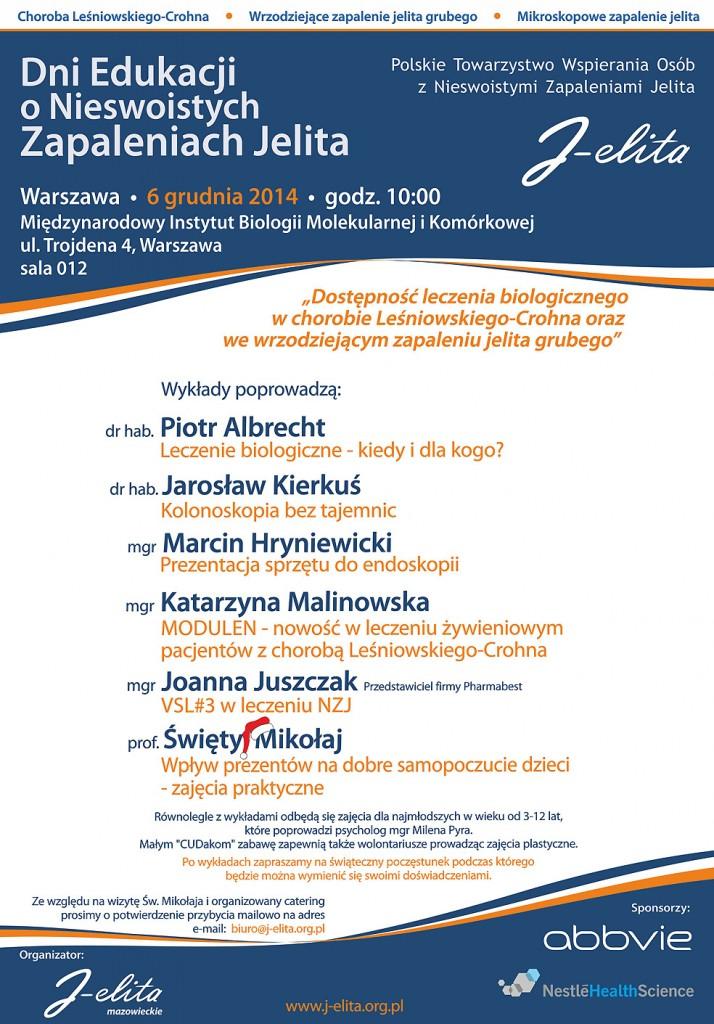 Plakat - Dni Edukacji 2014 -Warszawa