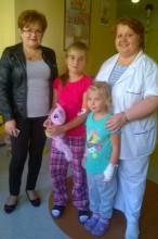 Kolejne odwiedziny na oddziałach dziecięcych - Szczecin