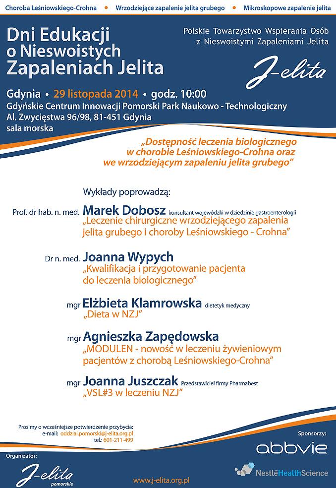 Plakat - Dni Edukacji 2014 -Gdynia