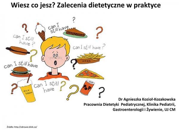 Wiesz co jesz? Zalecenia dietetyczne wpraktyce