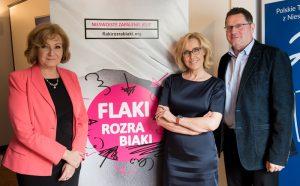 Prof. Rydzewska, Agata Młynarska iks.Arkadiusz Nowak (fot.Instytut Praw Pacjenta iEdukacji Zdrowotnej)