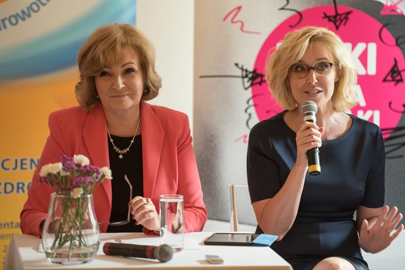 Prof. Grażyna Rydzewska iAgata Młynarska (fot.Instytut Praw Pacjenta iEdukacji Zdrowotnej)