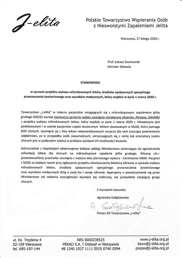 pismo-Mesalazyna-MZJG