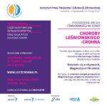 Zapraszamy naspotkanie online: Poszerzenie wiedzy iświadomości natemat choroby Leśniowskiego-Crohna